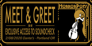 VIP Package Ticket - Dantes Portland OR - 2/8