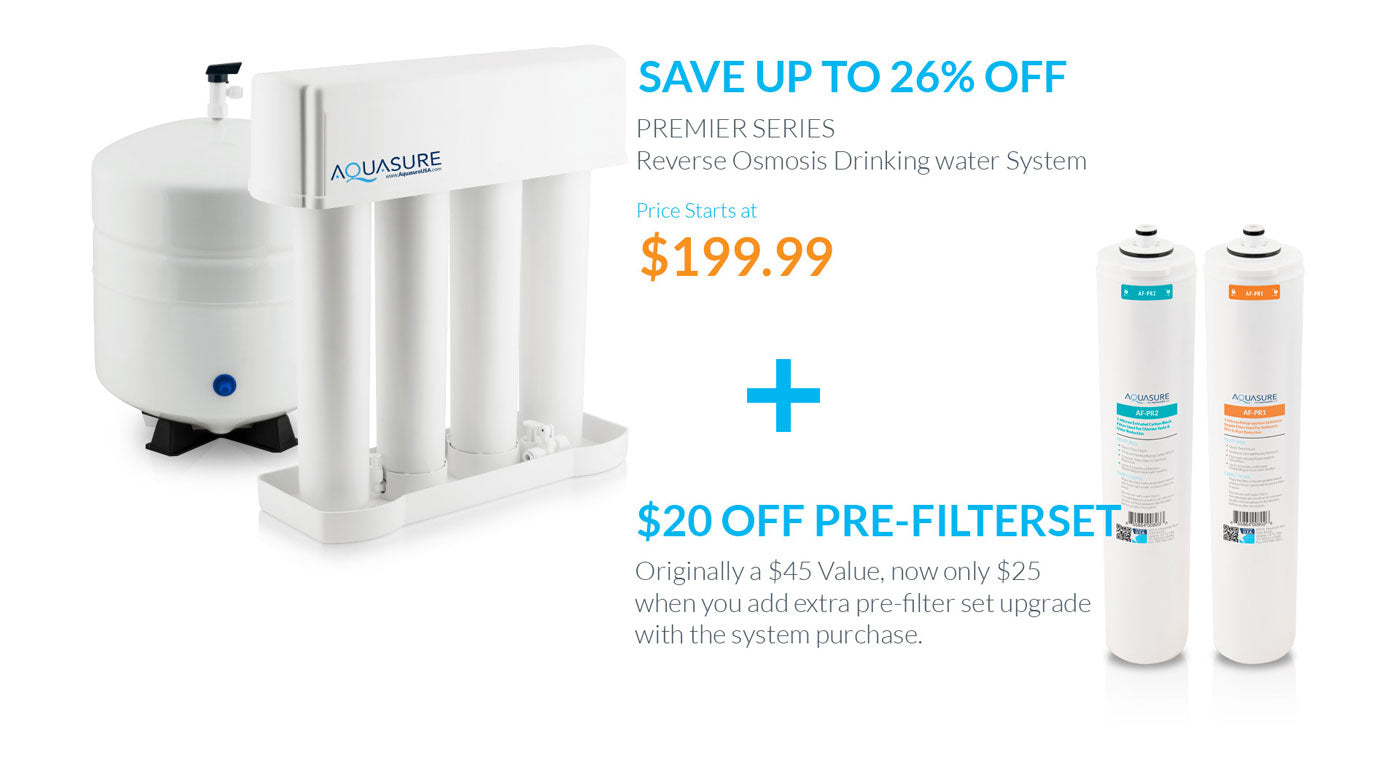 Aquasure Premier Reverse Osmosis Drinking water system