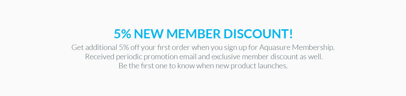 Aquasure discount for new customers and members
