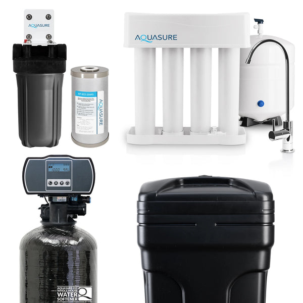 whole house water filter, reverse osmosis and water softener aquasure usa