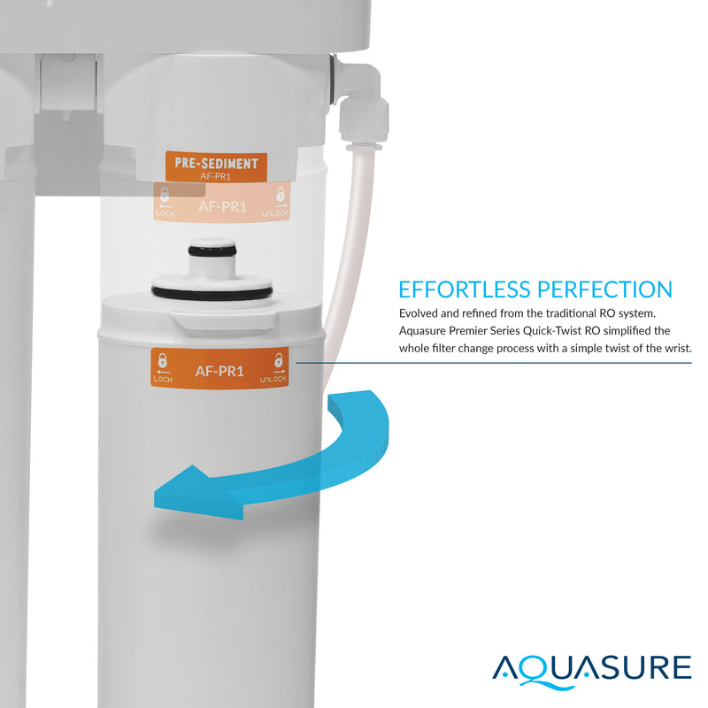 Premier Pro Reverse Osmosis Water Filtration System w/ LED Faucet Indicator | AS-PR100P