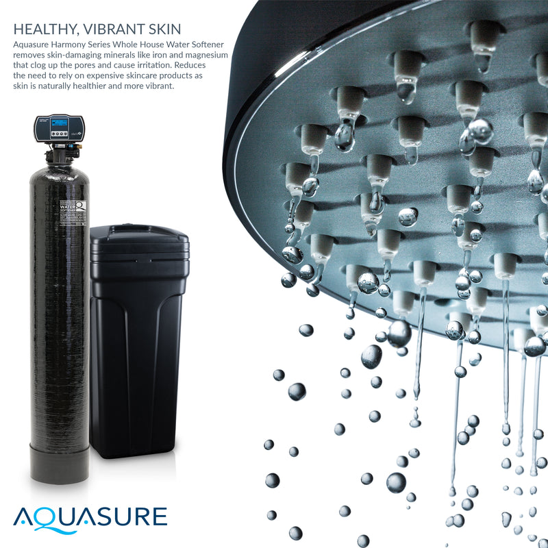 Harmony Series | Whole House Water Softener System w/ Fine Mesh Resin - 64,000 Grains - AS-HS64FM