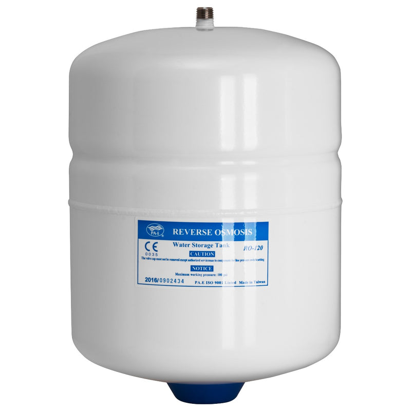 PAE 2-Gallon Capacity Pre-Pressurized Water Storage Tank - White
