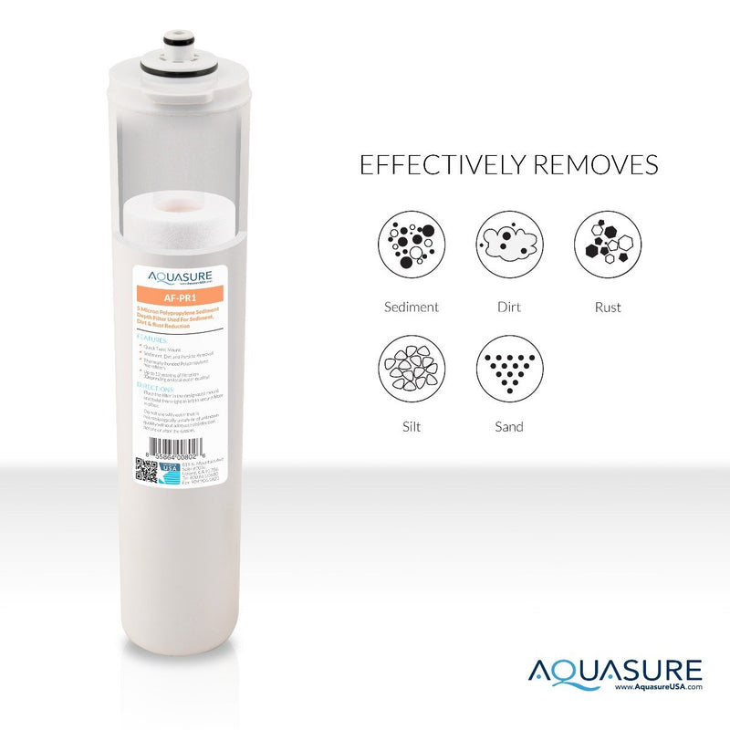 Aquasure Premier Series 1st Stage Quick Twist 5 Micron Sediment Filter for Aquasure reverse osmosis systems