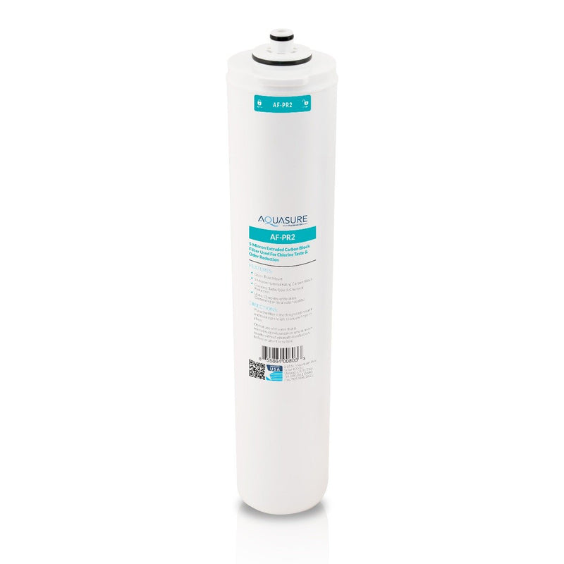 Aquasure Premier Series 2nd Stage Quick Twist 5 Micron Carbon Block Filter for Aquasure reverse osmosis systems