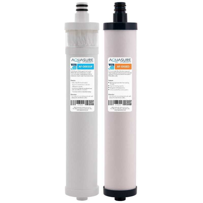 Dash Series | Complete Ultra Filtration Dual Cartridges Filter Bundle-Aquasure USA