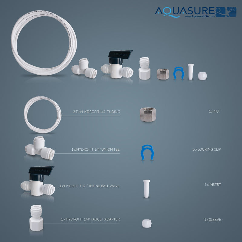 Aquasure Drinking Water System Extra Output Kit | Ice Maker Kit