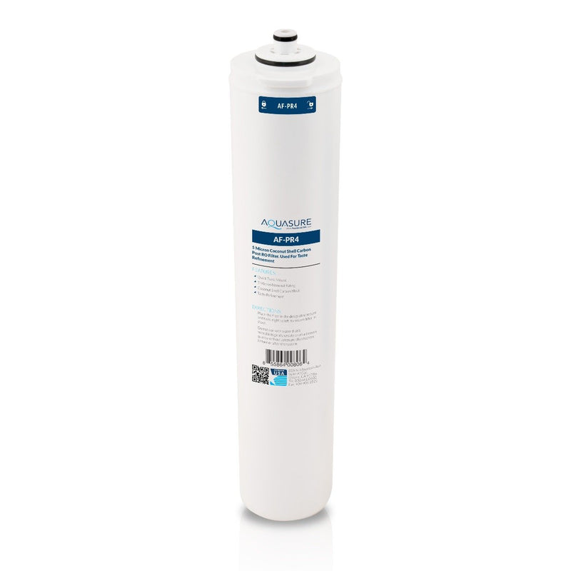 Premier Series | 4th Stage Quick Twist Coconut Carbon Shell Post-Stage Reverse Osmosis Water System Filter-Aquasure USA