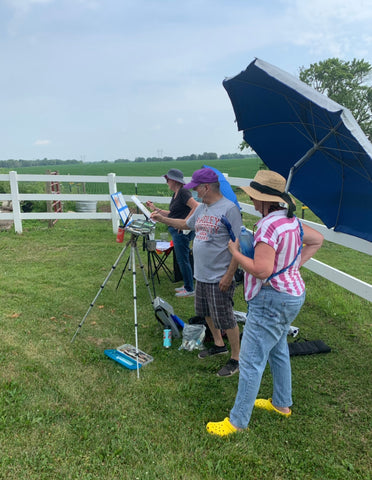 painting on the farm