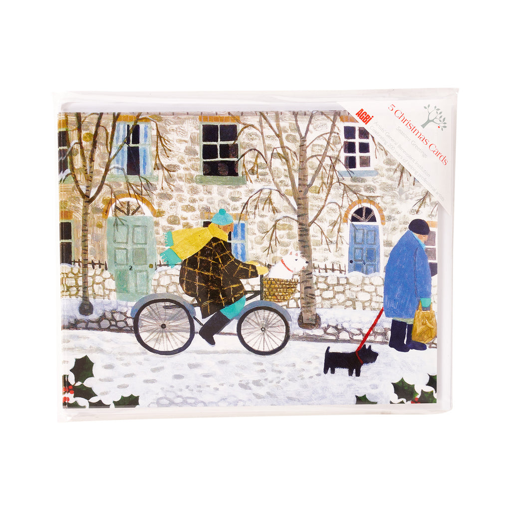 Snowy Street - Pack of 5 Christmas Cards
