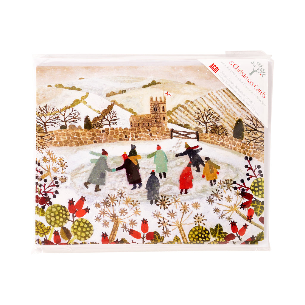 Skating Pond - Pack of 5 Christmas Cards