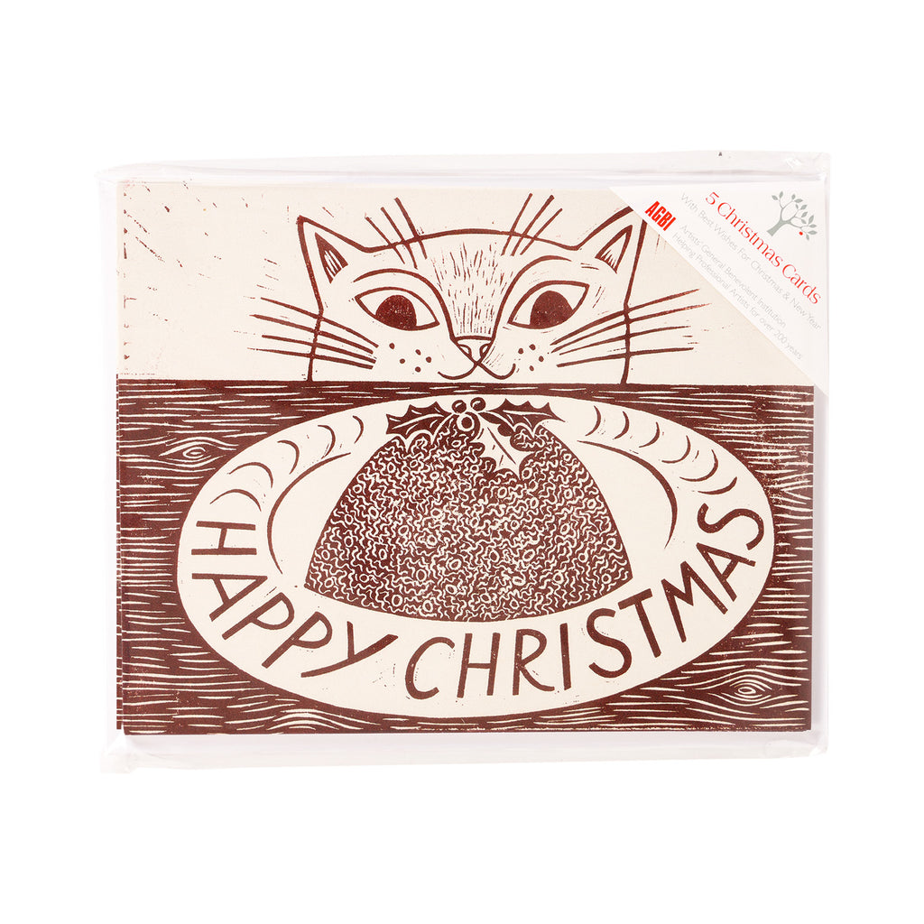 Christmas Cat - Pack of 5 Christmas Cards