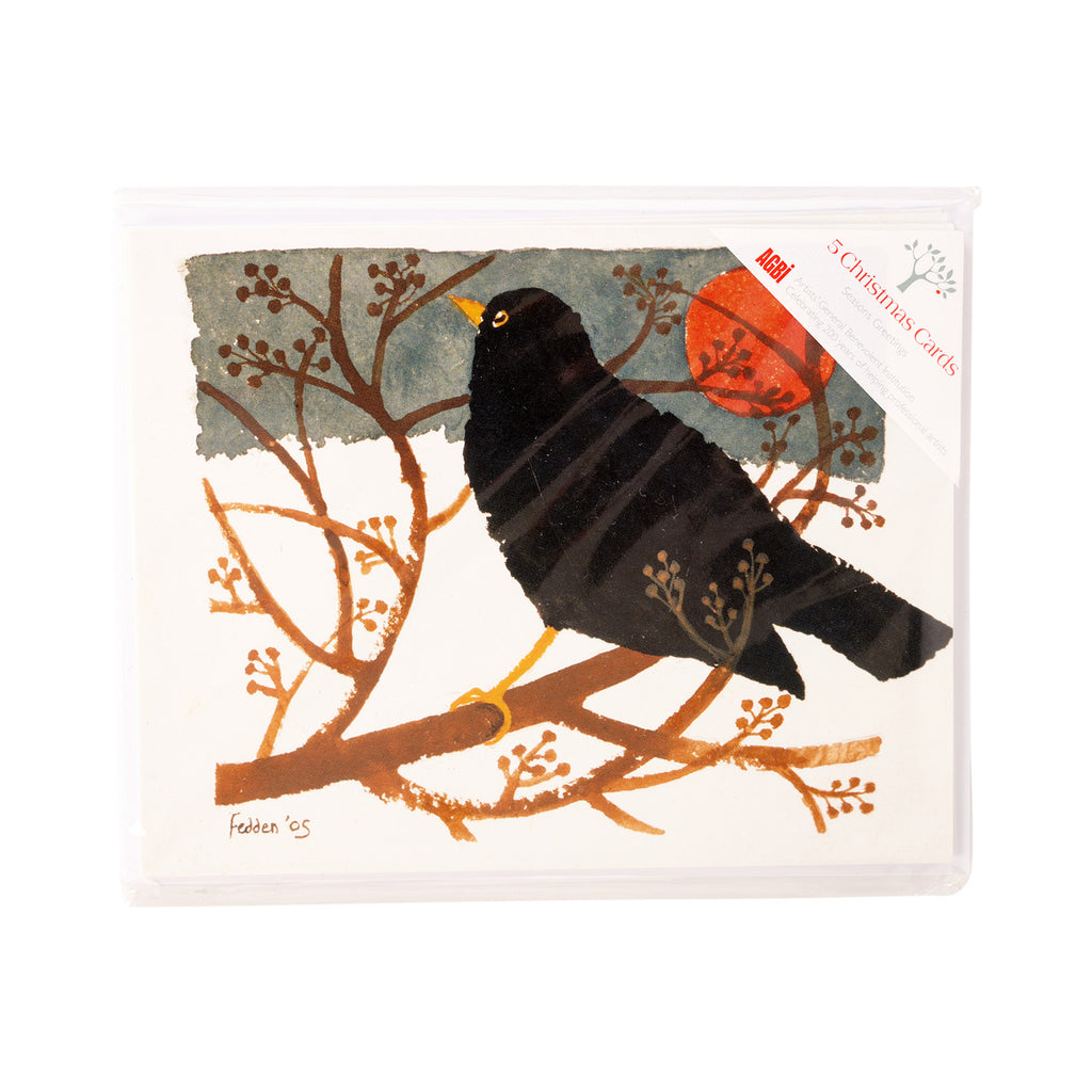 Blackbird In The Snow - Pack of 5 Christmas Cards