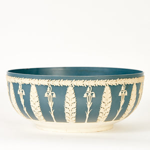 Large Blue & White Dialene Better Maid Round Planter Bowl