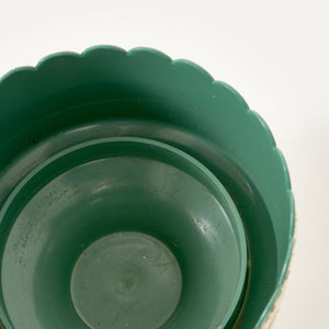 Green & Cream Dialene Better Maid Footed Bowl