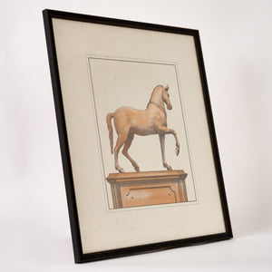 Framed 19th Century Classical Statue Engraving 4