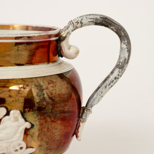 Lustre ware jug with excellent lead handle repair