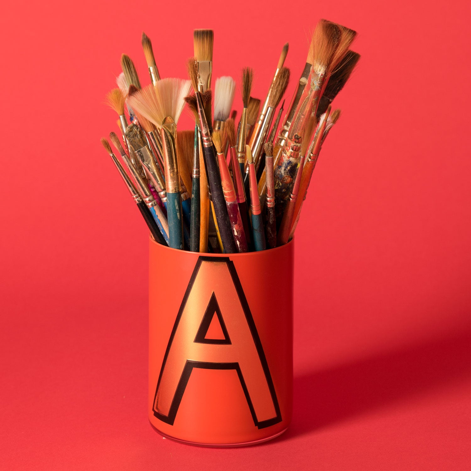 Alphabet Brush Pot - A