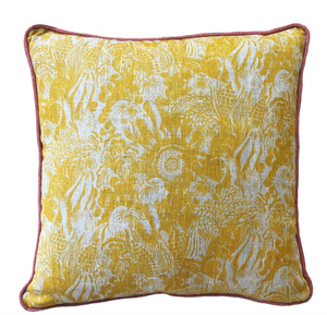 Small Harvest Cushion - Straw Yellow
