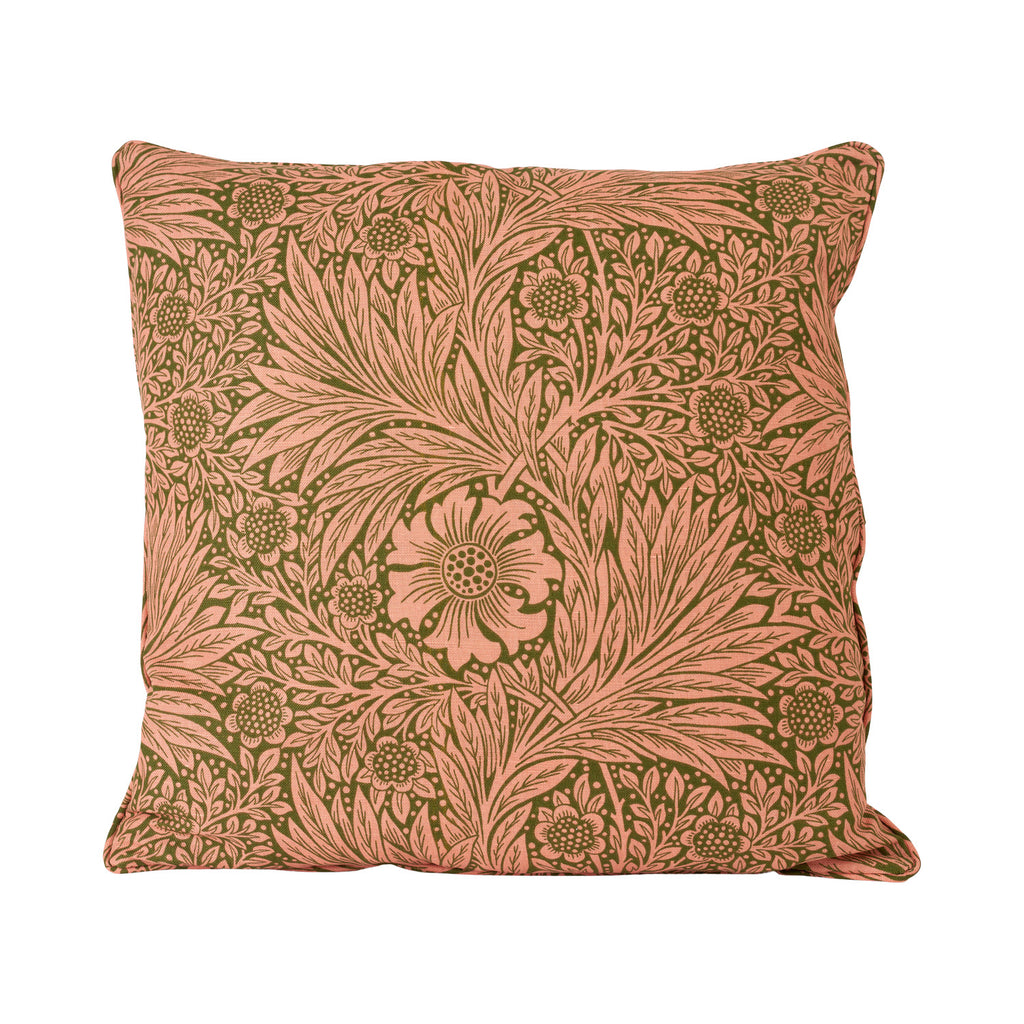 Marigold Cushion - Olive/Pink