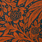 Marigold Cushion - Navy/Burnt Orange