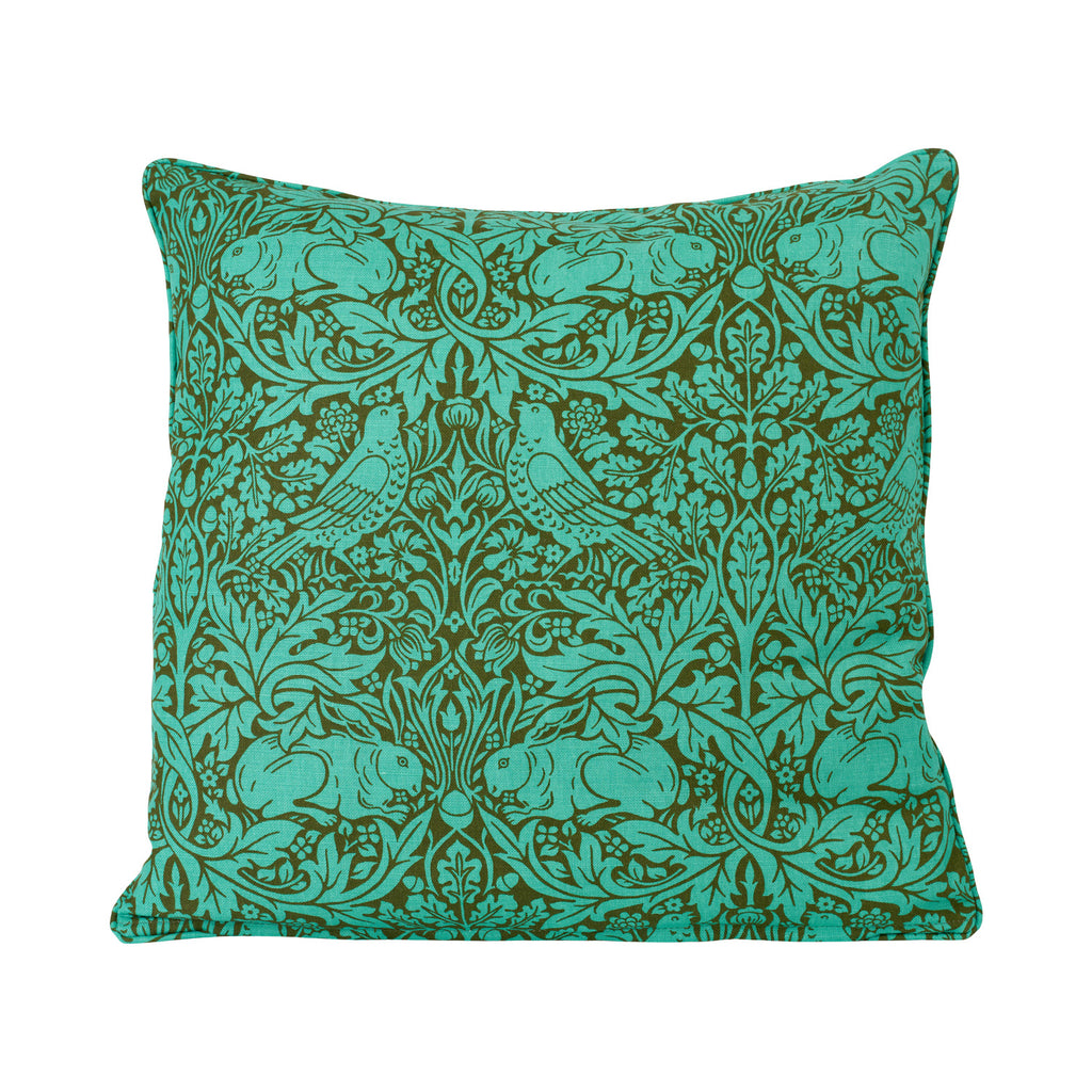 Brer Rabbit Cushion - Olive/Turquoise