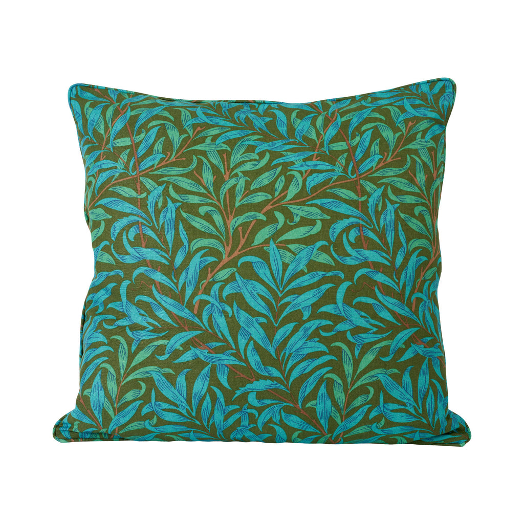 Willow Bough Cushion - Olive/Turquoise
