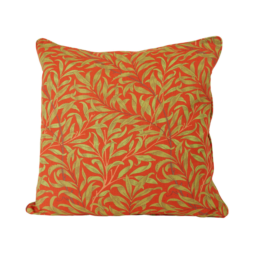 Willow Bough Cushion - Tomato/Olive