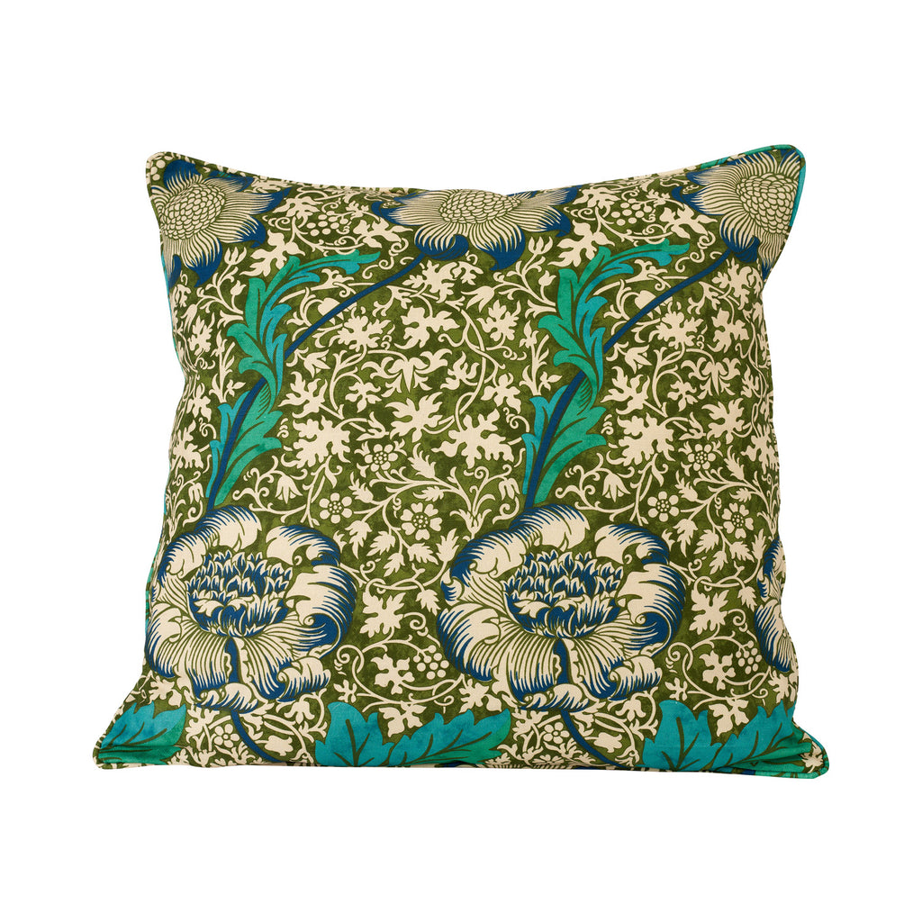 Kennet Cushion - Olive/Turquoise
