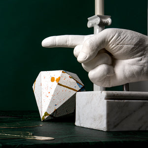Pointing Hand On Marble Base