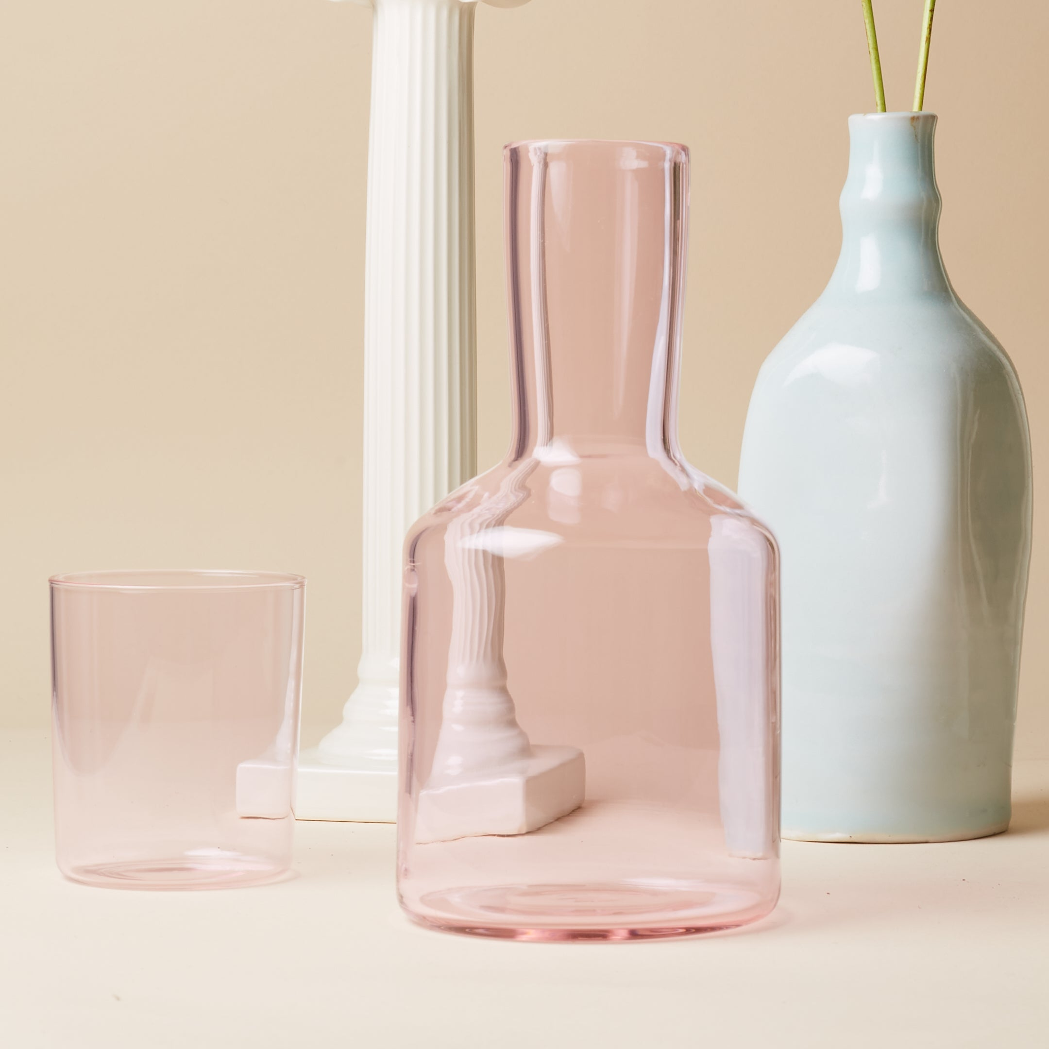 Carafe & Glass - Pink