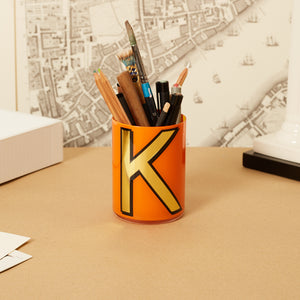 Alphabet Brush Pot - I