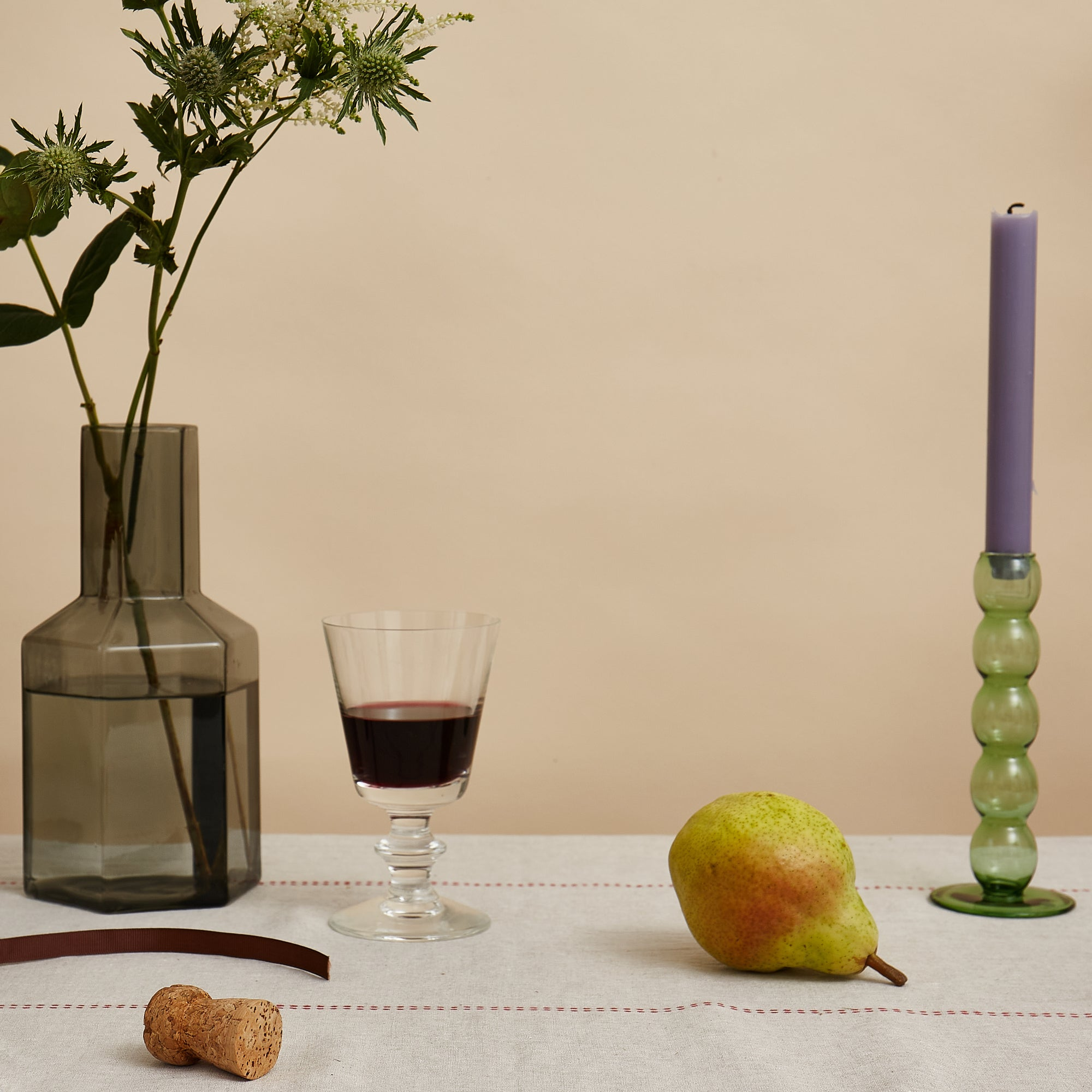 Volute Candlestick - Teal