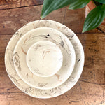 Cream Swirl Earthenware Condiment Bowl - 13cm