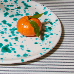 Small Splatterware Platter - Salentino Turquoise