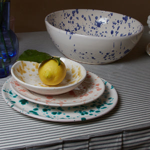 Splatterware Large Serving Bowl - Pasticciotto Yellow