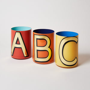 Alphabet Brush Pot - & PEPPERCORN/ROYAL RED