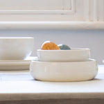 Classic Porcelain Deep Serving Bowl - Medium - 20cm