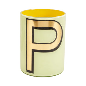 Alphabet Brush Pot - P