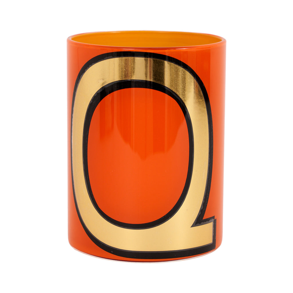 Alphabet Brush Pot - Q