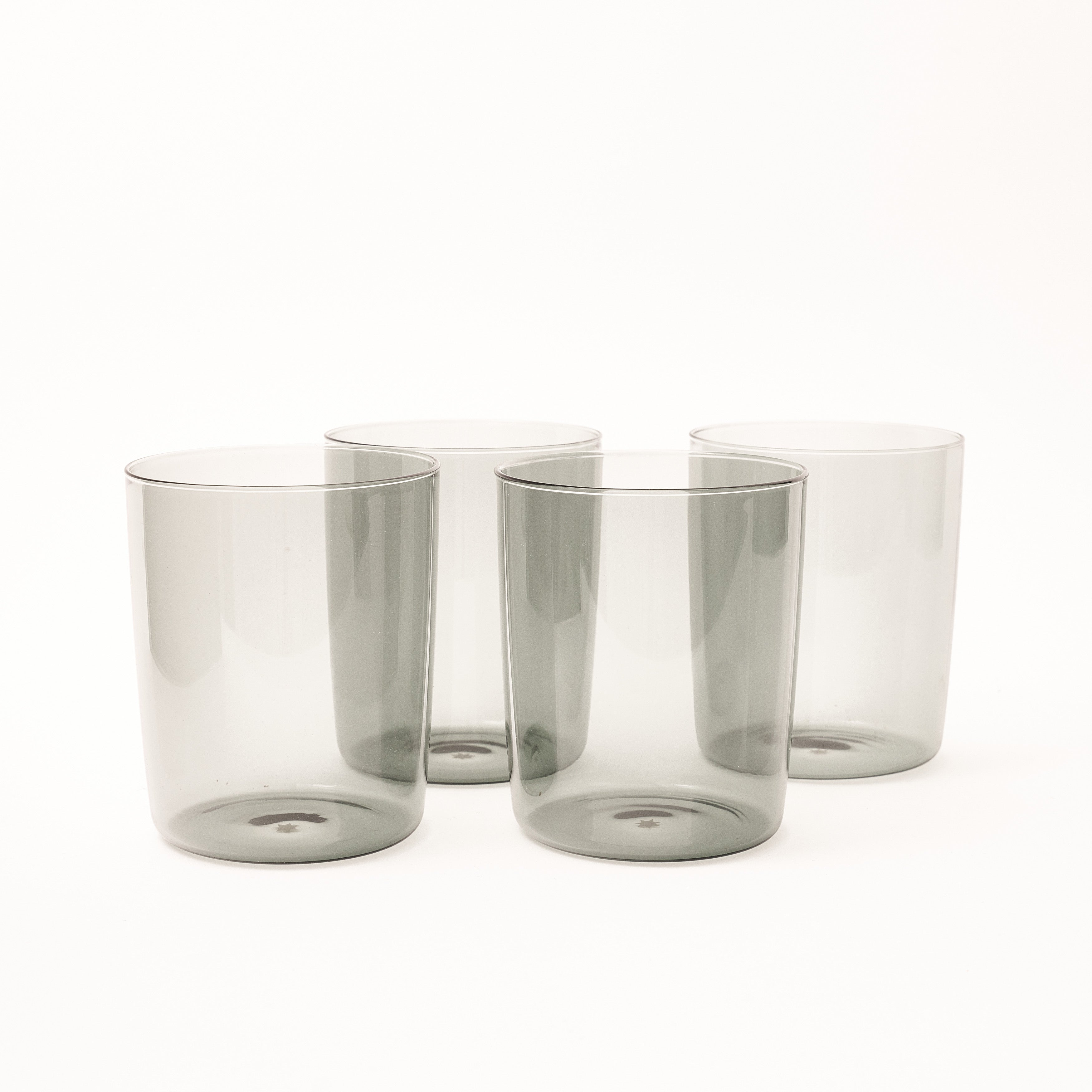 Large Mouth-Blown Tumbler - Smoke
