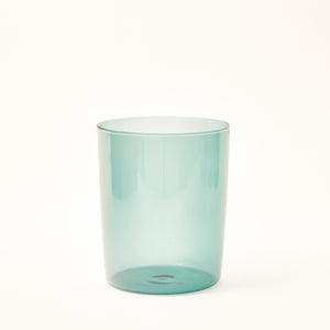 Large Mouth-Blown Tumbler - Teal