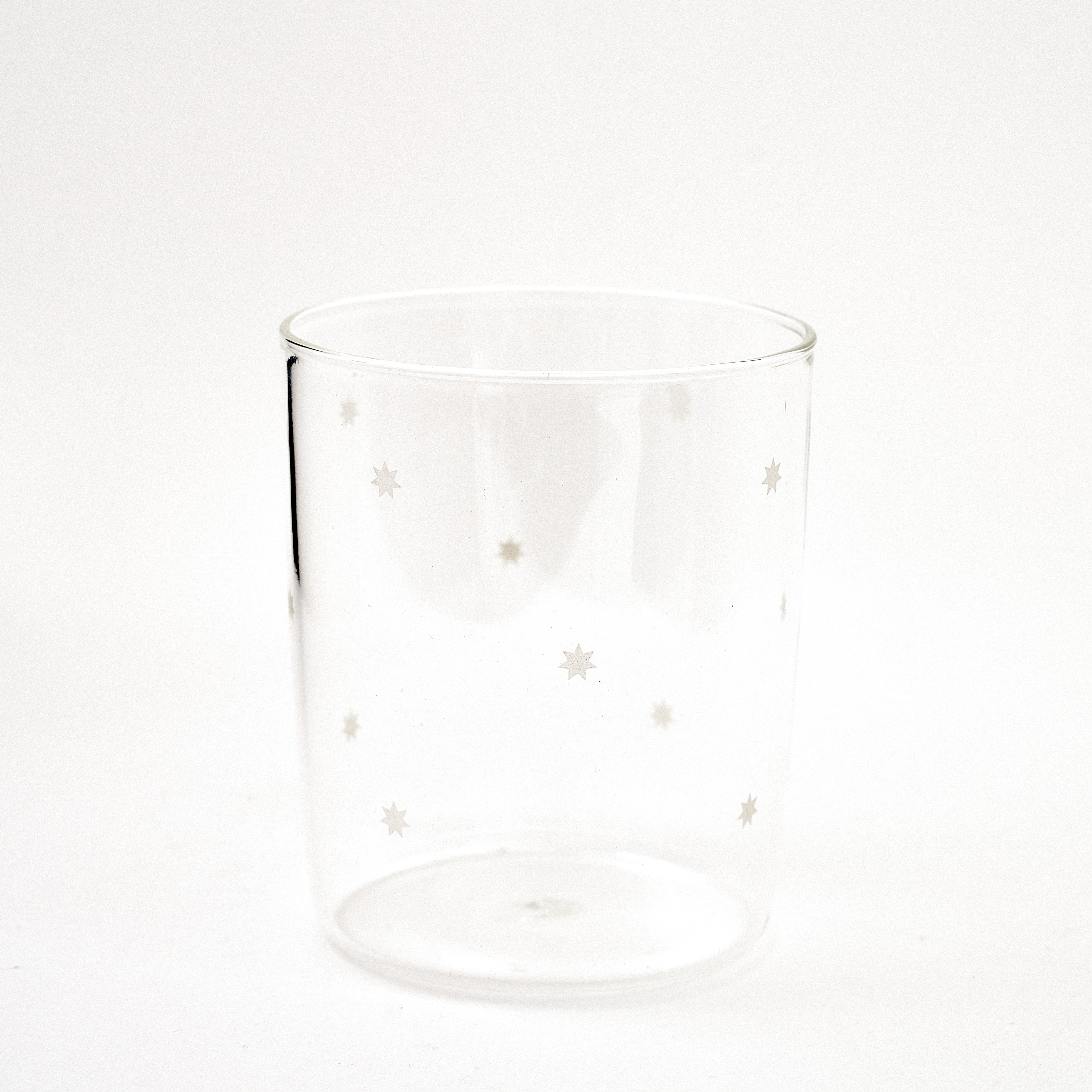Large Mouth-Blown Tumbler - Clear Star