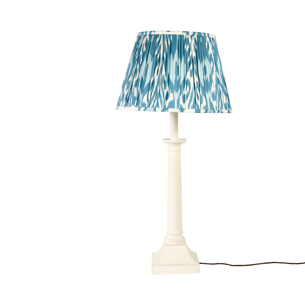 "16"" Summer Sky Silk Ikat Lampshade"