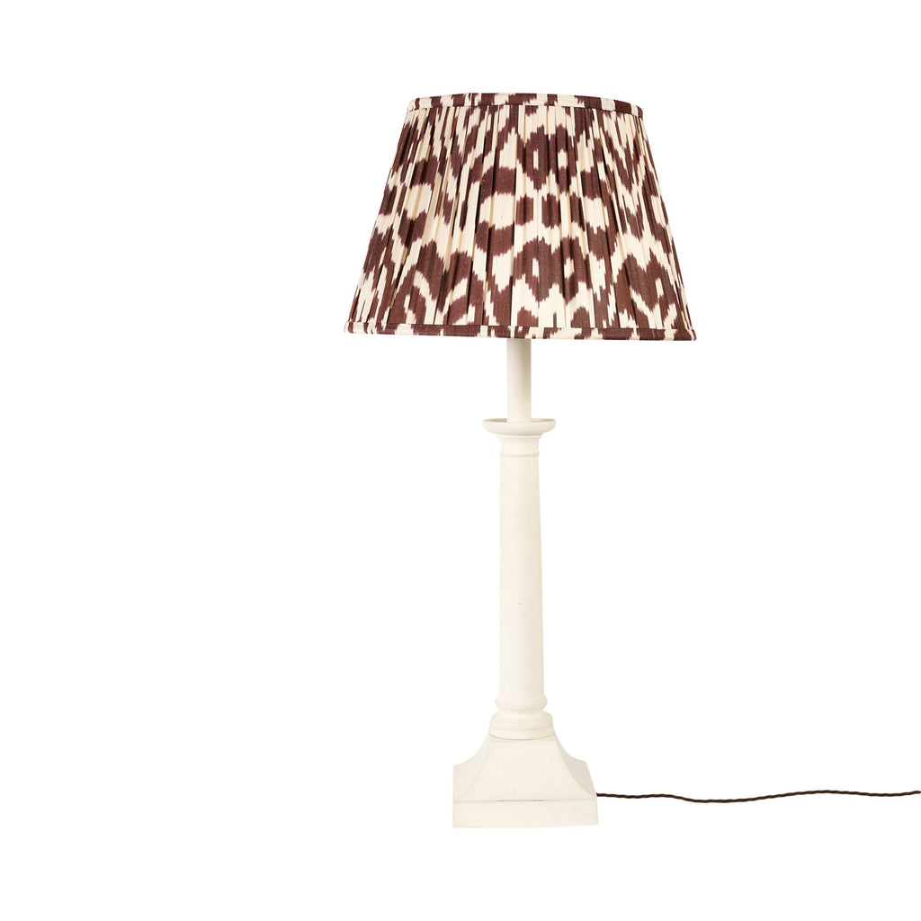 "16"" Chocolate Deco Silk Ikat Lampshade"