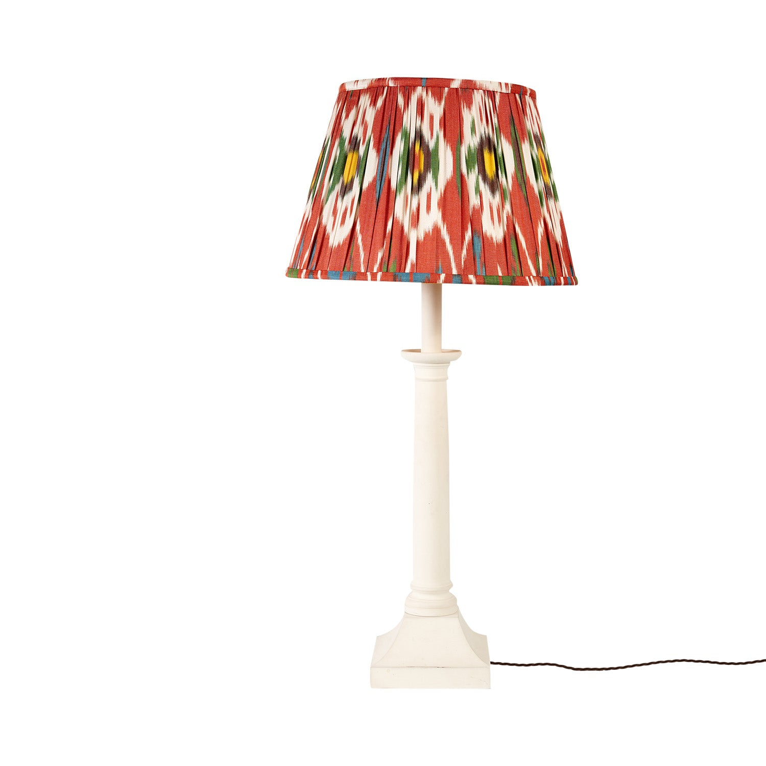 "16"" Flame Red Izmir Silk Ikat Lampshade"