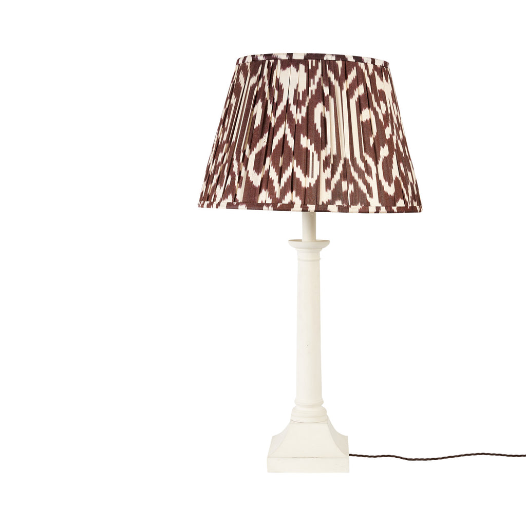 "18"" Chocolate Deco Silk Ikat Lampshade"