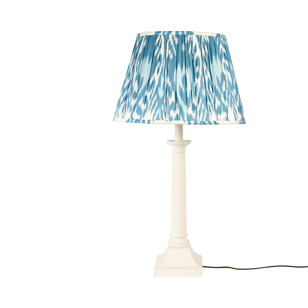 "18"" Summer Sky Silk Ikat Lampshade"