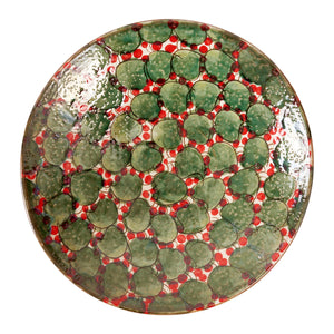 Green Leaves Red Platter