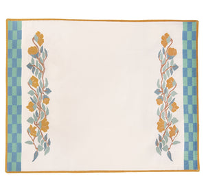 Blossom Placemat - Blue/Amber